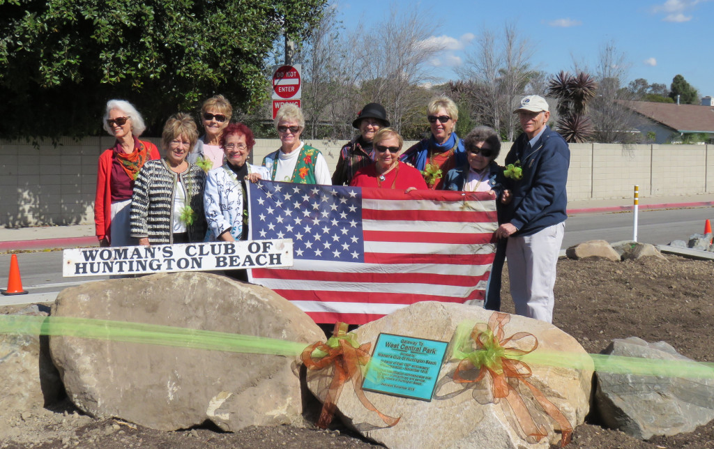 The Huntington Beach Woman's Club made beautification of Overland Drive possible.