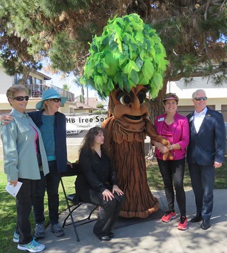 Tree Society team members, appreciating shade-makers!