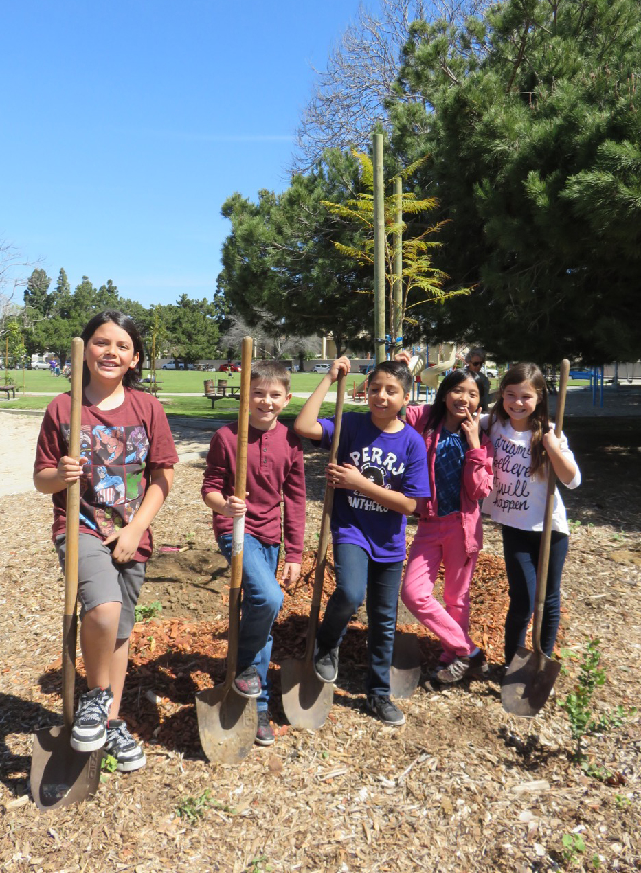 Arbor Day volunteers show you are never too young – or too old – to appreciate nature!